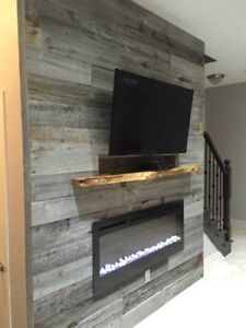 REAL BARN WOOD PLANKS & BARN BEAM MANTELS @ THE ART OF STONE