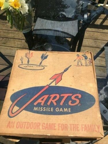 """Vintage 1960s Jarts Lawn Darts Missile Yard Game """"Box Only"""" Adult Skill Toy"""