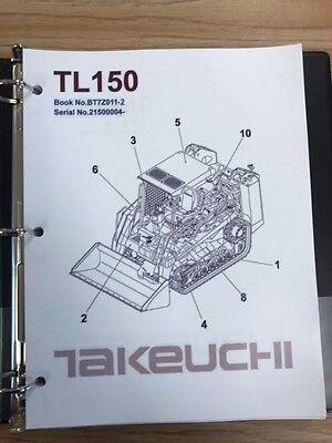 Takeuchi Tl150 Crawler Loader Parts Manual Sn 21500004 And Up