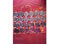 THE OFFICIAL SAINSBURYS FOOTBALL COINS COLLECTION - ENGLAND SQUAD 1998 - FULL SET