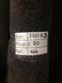 Charcoal Carpet Remnant (3.80 x 3.00 metres) for £80 - REF: 104