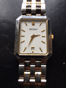 High quality rectangular Seiko stainless steel watch