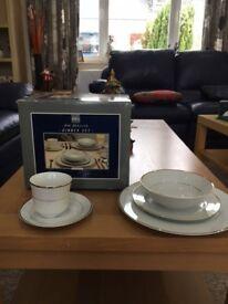Very Rare BHS Grosvenor 20 piece dinner set. Perfect condition & Wooden Harrodsu0027 Cheeseboard   in Barnton Edinburgh   Gumtree