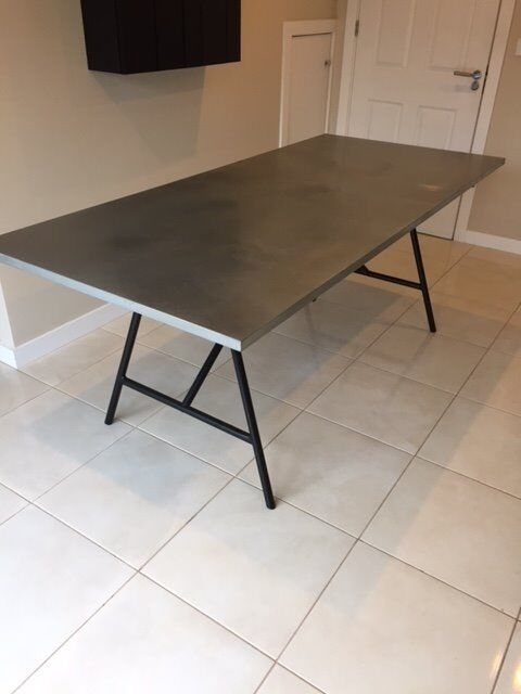 zinc topped dining table habitat yeoman industrial style