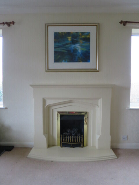 Ordinary Stone Effect Fireplace Surrounds Part - 7: Resin Stone Effect Fire Surround Complete With Gas Fire