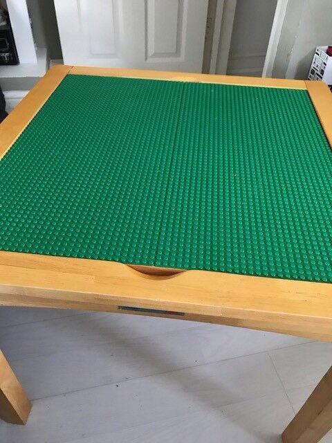 Lego / Drawing Table Desk  Reversible. Plus Two Lego Storage Stool