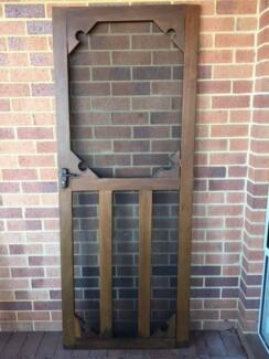Jarrah Flywire Door & Flywire Door Hinged Cream/Beige | Building Materials | Gumtree ...