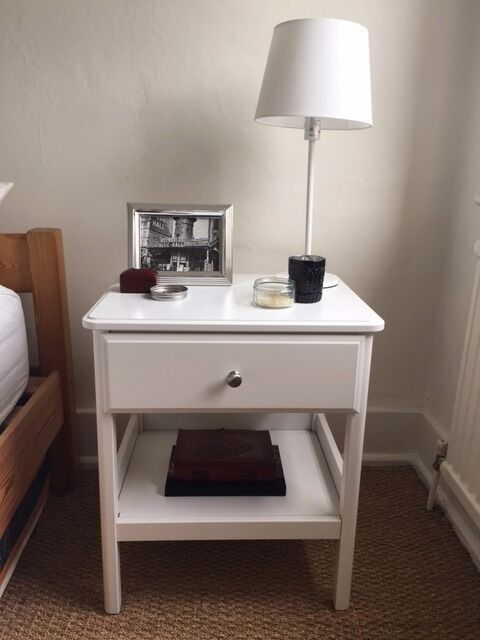 Beautiful Beautiful White Ikea Tyssedal Bedside Tables   2 Matching Part 6