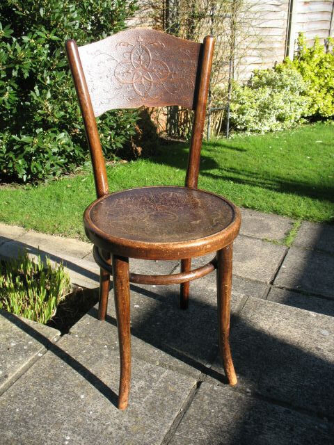 Merveilleux Rare Original Vintage/Antique Thonet Bentwood Chair (Vienna, 1900u0027s)