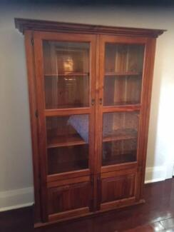 Display Cabinet Timber - Glass Doors u0026 Cupboards & timber display cabinet in Western Australia | Gumtree Australia Free ...