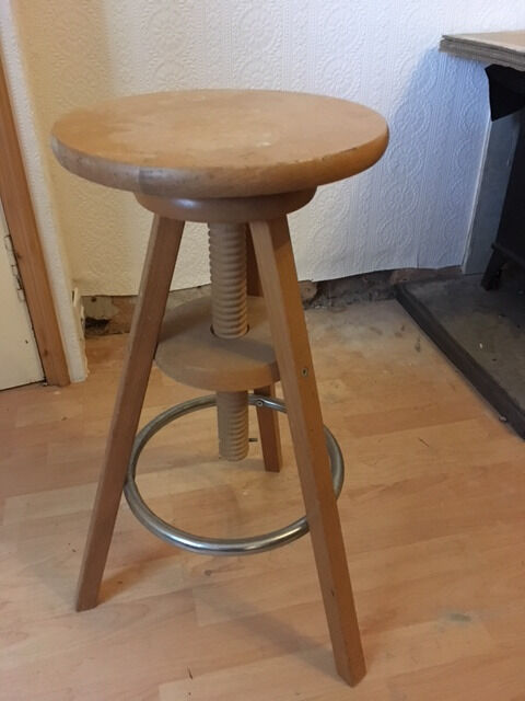 Ikea wooden screw-adjustable bar stool & Ikea wooden screw-adjustable bar stool | in Haddington East ... islam-shia.org