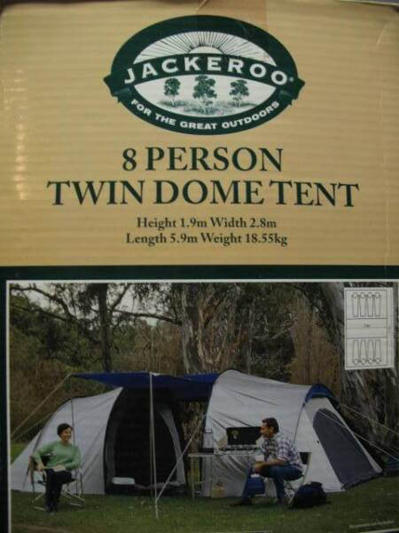 Jackeroo 8 person twin dome tent | Miscellaneous Goods | Gumtree Australia Brisbane North East - Hamilton | 1143317554 & Jackeroo 8 person twin dome tent | Miscellaneous Goods | Gumtree ...