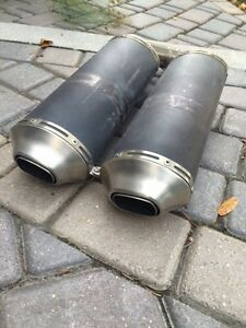 2011-2013 DUCATI 848 EVO STOCK EXHAUST SLIP ON's