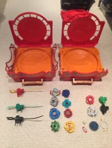 Beyblades and cases