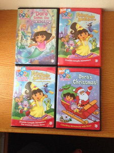 Dora DVDs and VHS tapes