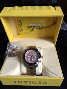 Montre Invicta 12842 Specialty Chronograph Rose Dial Watch