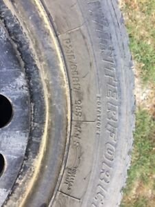 4 Michelin Winterforce tires on rims