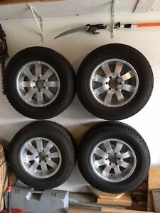 """4-18"""" winter tires with rims P275/65R18"""