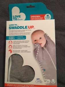 Love to Dream Love to Swaddle UP Original Swaddle, Grey, M