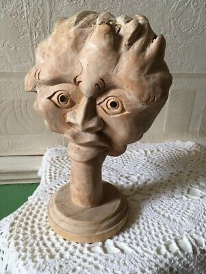 Wood Carving Abstract Head Root Wood