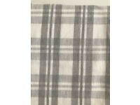 Pair of high quality grey check curtains