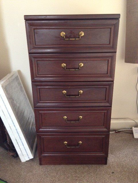 Beautiful dark wood chest of drawers