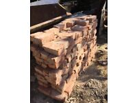 300 red bricks (used)