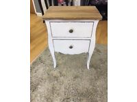 2 drawer unit bedside table / side table