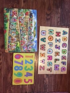 EDUCATIONAL PUZZLES (NUMBERS, LETTERS).
