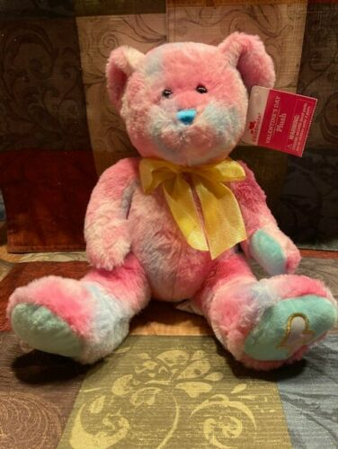 "VALENTINES DAY~Fuchsia Bear~11"" Seated~TIE DYE~Very Pretty Very Soft~NEW~"