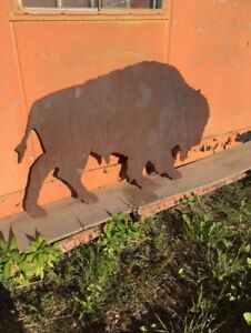 PLATE STEEL BISON CUT-OUT - DECORATIVE