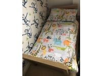 Silver Cross Portobello Cot / Toddler Bed with Mattress