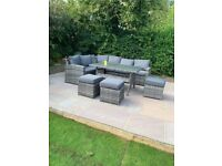 Outdoor furniture- L shaped sofa and dining set