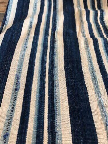 "Antique Hand Woven & Dyed Textile INDIGO MUD CLOTH Mali  Africa 59"" X 40""  #2"