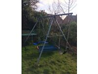 Child's garden swing set
