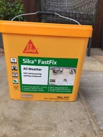 Sika Fastfix all weather self setting paving jointing.