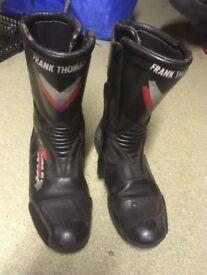 Frank Thomas motorbike boots size 11