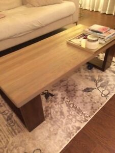As New Reclaimed Wood Oak And Dark Coffee Table