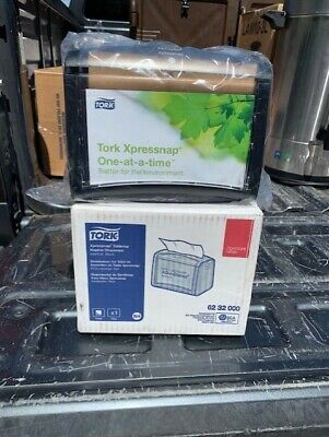 Tork N4 6232000 Xpressnap Black Tabletop Napkin Dispenser - Nib
