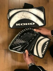 HOCKEY GOALIE BLOCKER GLOVE CHEST PROTECTOR SKATES 2.5, 4.5