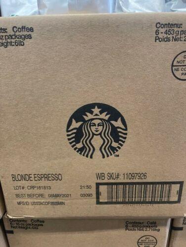 6x 1-LB Bags Starbucks Blonde Espresso Whole Bean Coffee In Date 05/08/2021