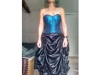 Corset / Steampunk dress, size 8 - 10, worn once to Steampunk ball
