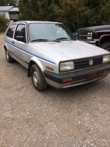 92 golf diesel runs good   re homing