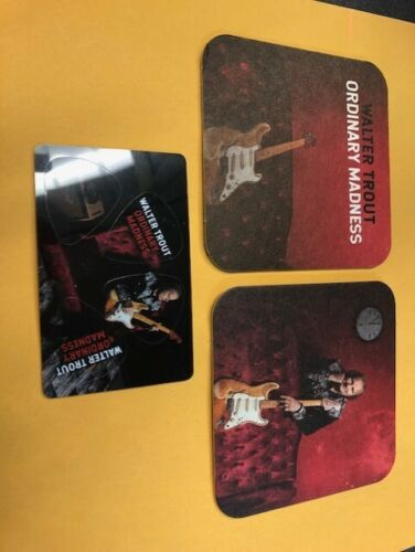 GUITAR PICKS ~ Walter Trout Ordinary Madness - Guitar picks and Costers