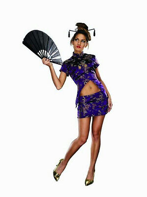 Women's Fortune Cookie Chinese Sexy Geisha Adult Costume Size S/M - Chinese Geisha Costume