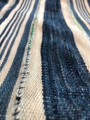 "Antique Hand Woven & Dyed Textile INDIGO MUD CLOTH Mali  Africa 56"" X 38""  #4"