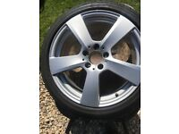"""Mercedes 19"""" Alloy Wheels and Continental Winter tyres"""