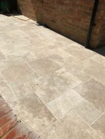 Travertine patio slabs - 3.5m2