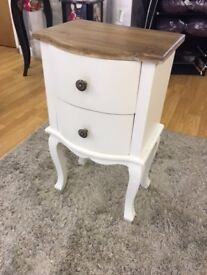 Cream 2 Drawer Side Table / End Table / Bedside Table