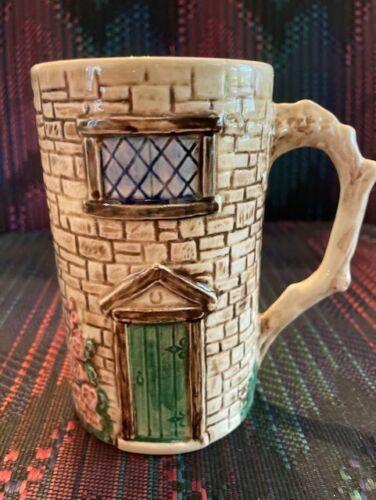 Sylva Ceramic Cottage Mug England Staffordshire Thatched Roof Croft Vintage